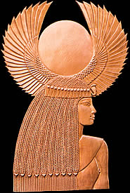 Goddess Isis Bronze Relief